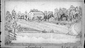 Segerfors herrgård från söder 1886. Bild: Anna Montan