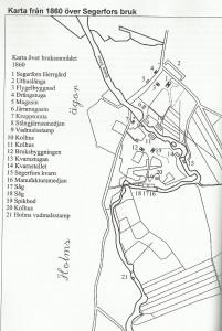 karta Segerfors 1860