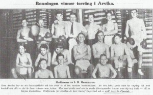Artikel från boxningstidningen Swing 20 april 1922
