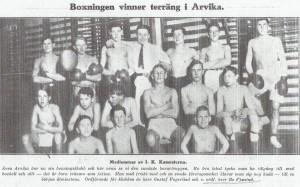 Artikel från boxningstidningen Swing 20 april 1922