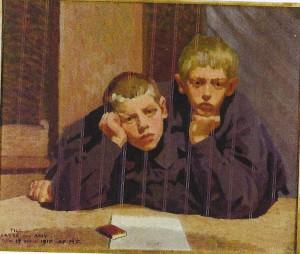 Knut och Jerôme målade av Maja Fjaestad 1910