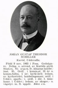 1886 köpte Gustaf Schillers svärföräldrar Segerfors och överlät det till Gustaf Schiller och deras dotter Josefina Charlotta Ljunggren, som sålde egendomen 1892