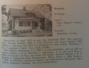 Thegerströms köpte huset av Ragnar Johansson 1947