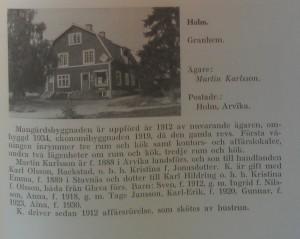 Granhem 1946, som sedan blev en konsumbutik.