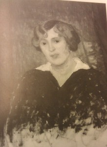 Lisa Morell målad av Fritz Lindström