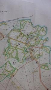 Rackstad 1845. Karta för Laga skifteförrättning