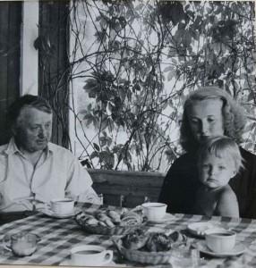 Ture med sin dotter Marja med Lars-Erik på Anneberg