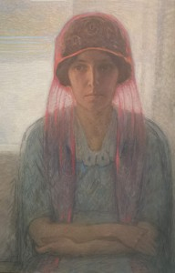 Ragnhild Franzén.  Målad av Björn Ahlgrensson